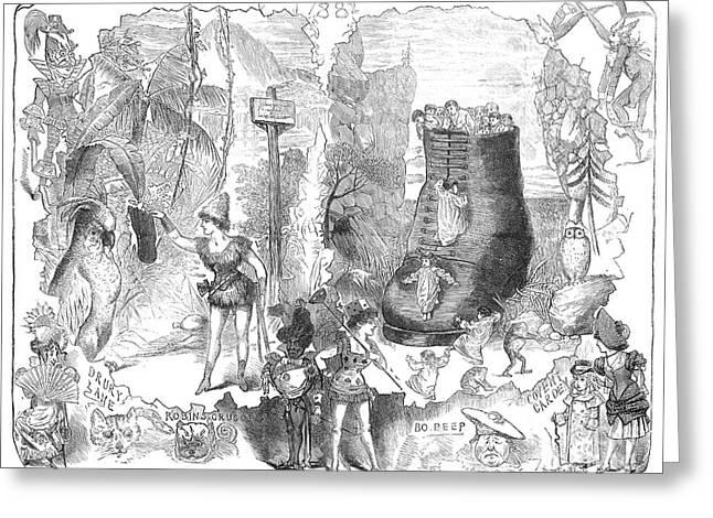 England: Pantomime, 1881 Greeting Card by Granger