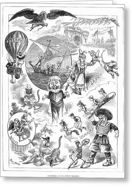 Pantomime Greeting Cards - England: Pantomime, 1882 Greeting Card by Granger