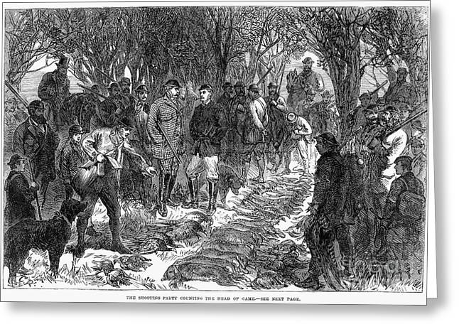Wal Greeting Cards - England: Royal Hunt, 1865 Greeting Card by Granger