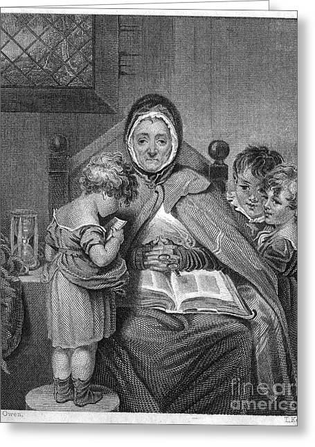 England: Schoolmistress Greeting Card by Granger