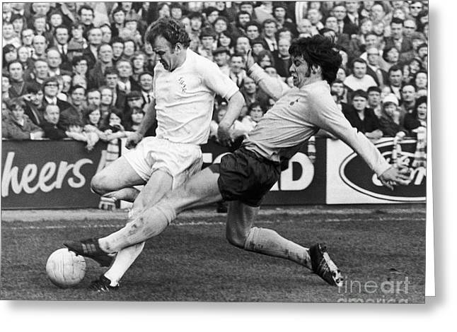 Cyril Greeting Cards - England: Soccer Match, 1972 Greeting Card by Granger
