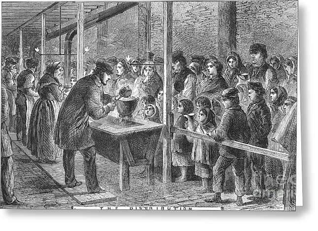 Quaker Photographs Greeting Cards - England: Soup Kitchen, 1862 Greeting Card by Granger