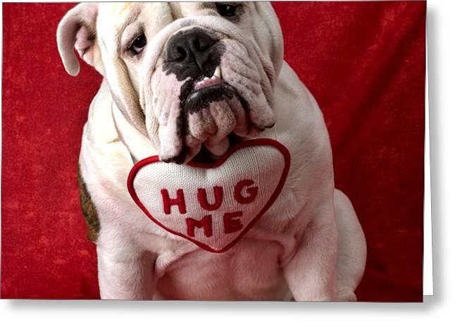 English Bulldog Greeting Card by Garry Gay
