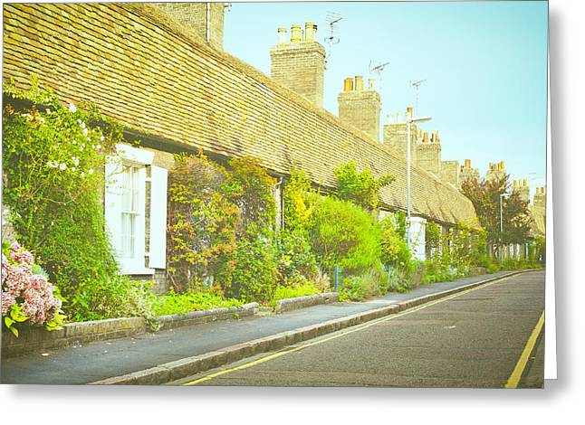 Old Neighbourhood Greeting Cards - English cottages Greeting Card by Tom Gowanlock