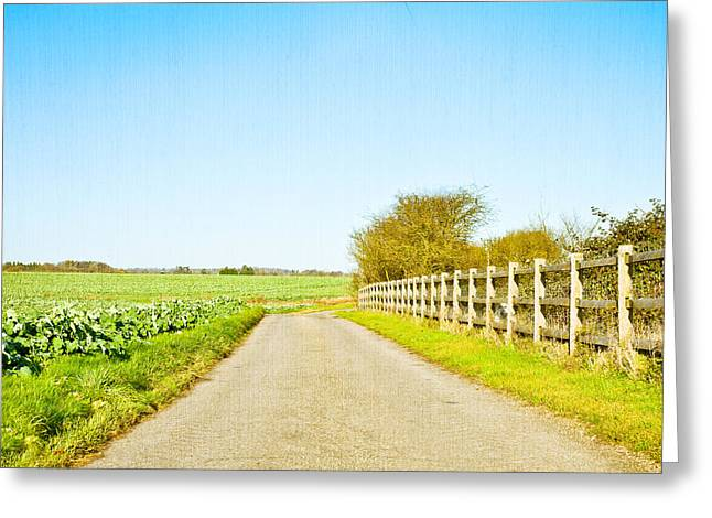 Asphalt Greeting Cards - English countryside Greeting Card by Tom Gowanlock