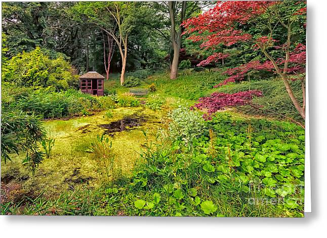 Countryside Digital Greeting Cards - English Garden  Greeting Card by Adrian Evans