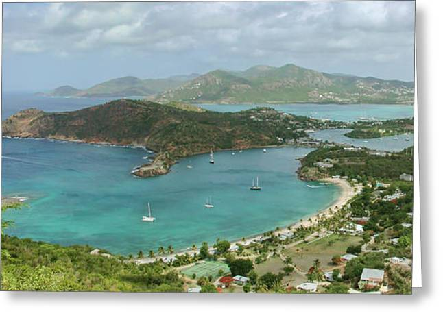 Antigua Greeting Cards - English Harbour Antigua Greeting Card by John Edwards