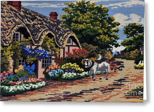 English Tapestry Greeting Card by Kaye Menner