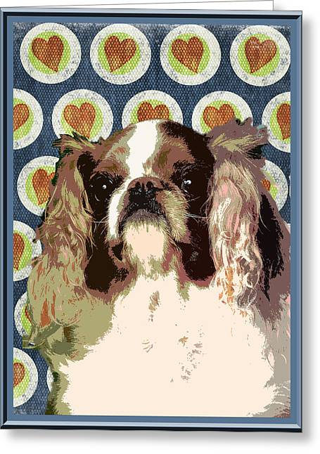 English Toy Spaniel Greeting Card by One Rude Dawg Orcutt
