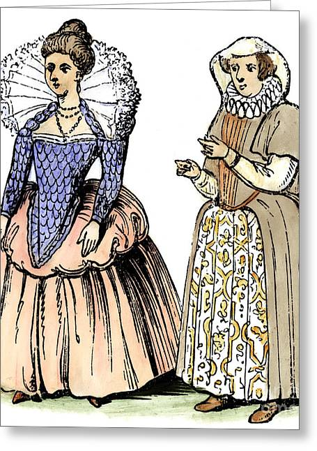 Pannier Greeting Cards - English Women Greeting Card by Granger