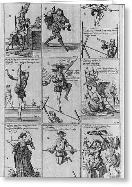 Het Greeting Cards - Engravings From The Great Tableau Greeting Card by Science Source