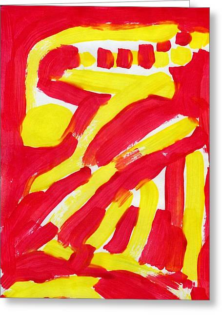 Engulfing Paintings Greeting Cards - Engulfed Rage Greeting Card by Taylor Pam
