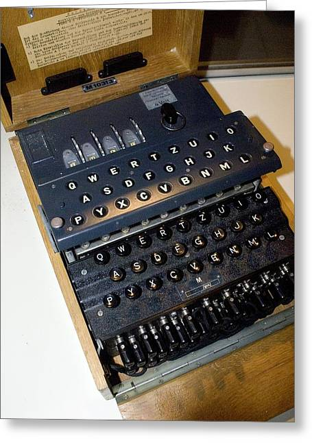 Maths Greeting Cards - Enigma Code Machine Greeting Card by Mark Williamson