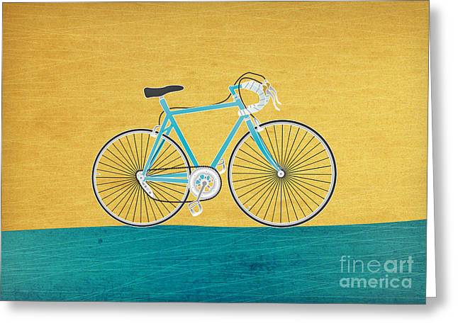 Enjoy The Ride Greeting Card by Linda Tieu