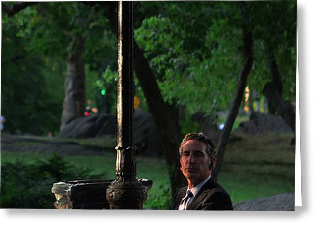 Enjoying the Moment in Central Park II Greeting Card by Lee Dos Santos