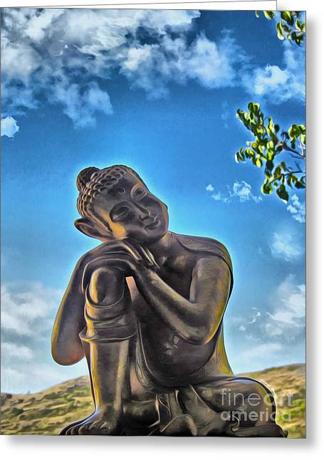 Spiritual Teacher Greeting Cards - Enlightenment 1 Greeting Card by Cheryl Young