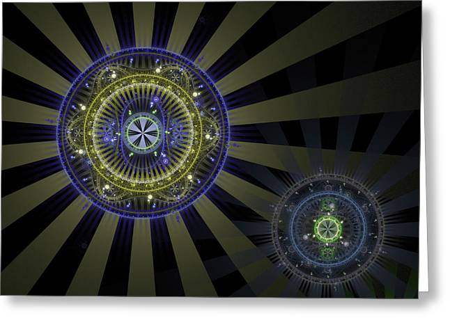 Apophysis Digital Art Greeting Cards - Enlightenment Greeting Card by David April