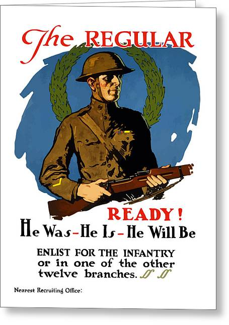 Wwi Greeting Cards - Enlist For The Infantry Greeting Card by War Is Hell Store