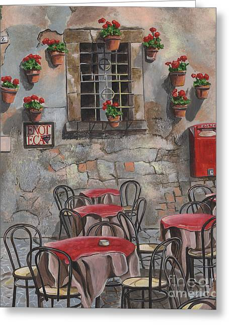 Spring Street Greeting Cards - Enot Eca Greeting Card by Debbie DeWitt