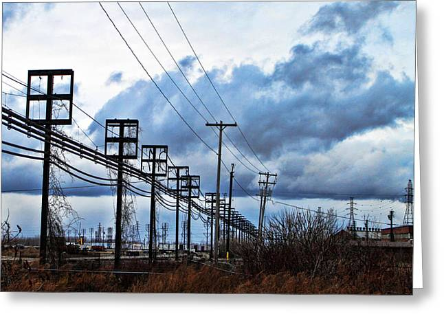 Industry Greeting Cards - Entangled2 Greeting Card by Peter Chilelli