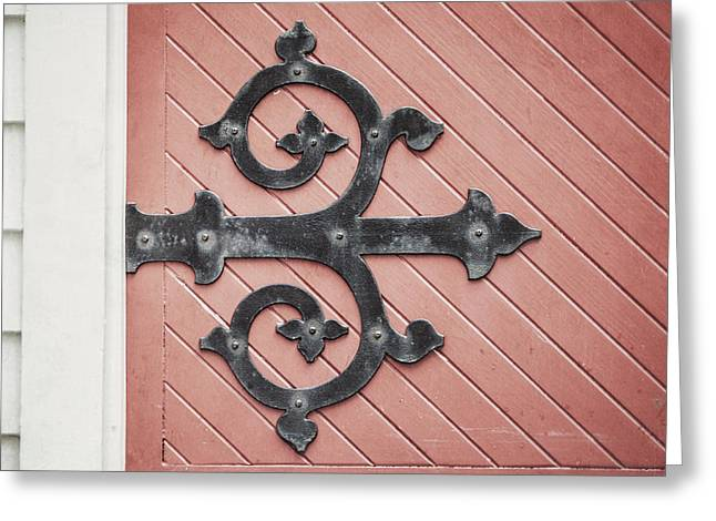 Door Hinges Greeting Cards - Enter Here Greeting Card by Lisa Russo