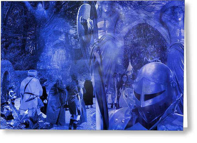 Camelot Digital Art Greeting Cards - Entering Camelot Greeting Card by Keith Double