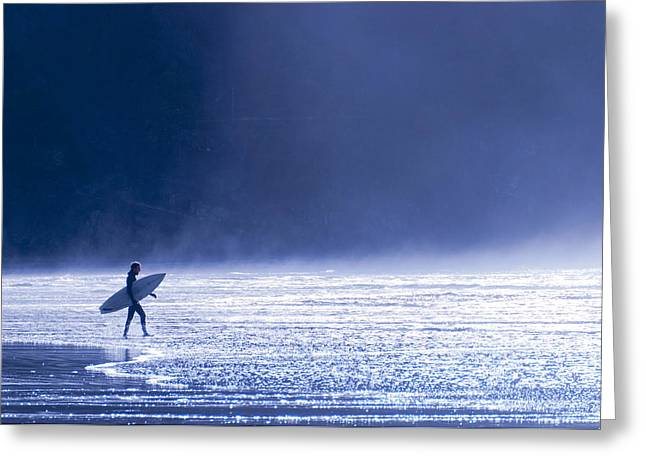Short Sands Greeting Cards - Entering The Blue Greeting Card by Brian Bonham