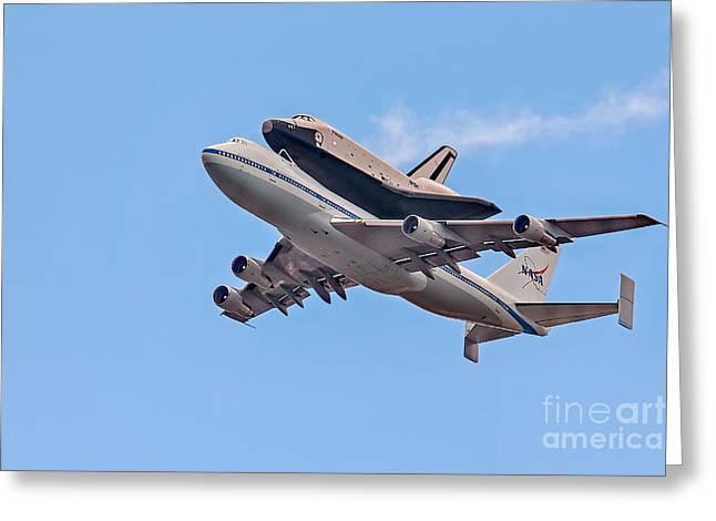 Enterprise Space Shuttle  Greeting Card by Susan Candelario