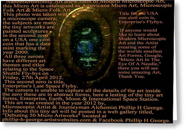 Microscopic Folk Sculptures Greeting Cards - Enterprises Last Space Flyby Greeting Card by Phillip H George