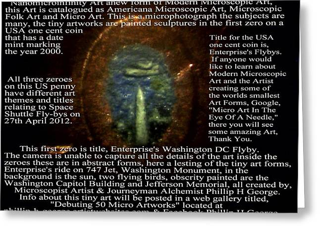 Enterprise's Washington DC Flyby Greeting Card by Phillip H George