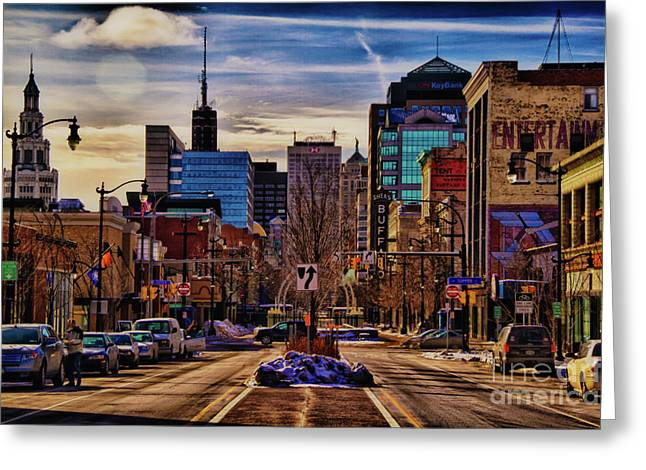 Downtown Greeting Cards - Entertainment Greeting Card by Chuck Alaimo