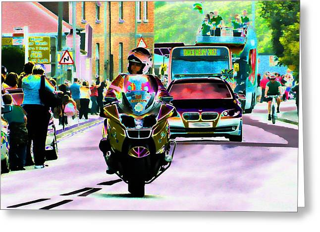 Celebration Art Print Digital Art Greeting Cards - Entourage Greeting Card by Sharon Lisa Clarke