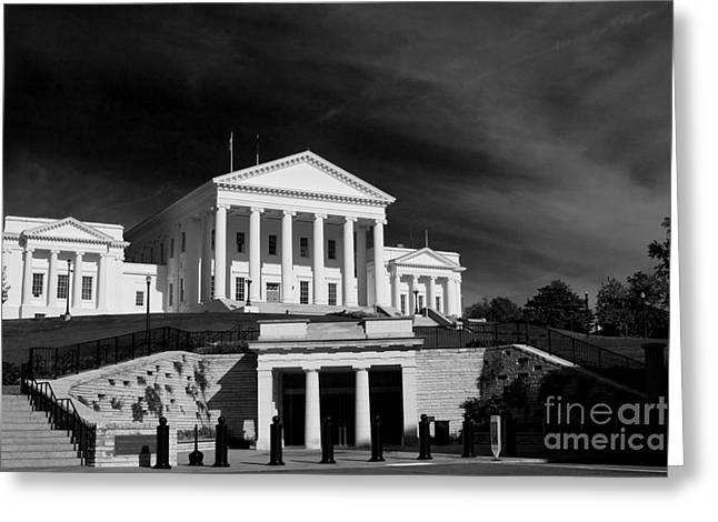 Capitol Greeting Cards - Entrance Below Greeting Card by Tim Wilson