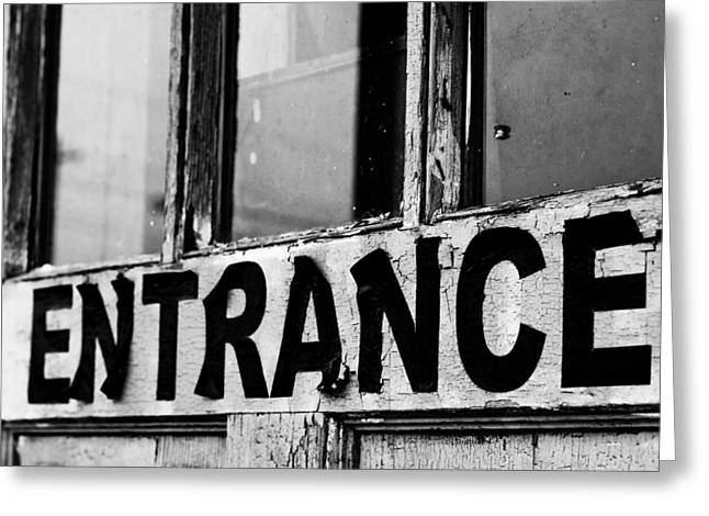 Entrance Door Greeting Cards - Entrance Greeting Card by Off The Beaten Path Photography - Andrew Alexander