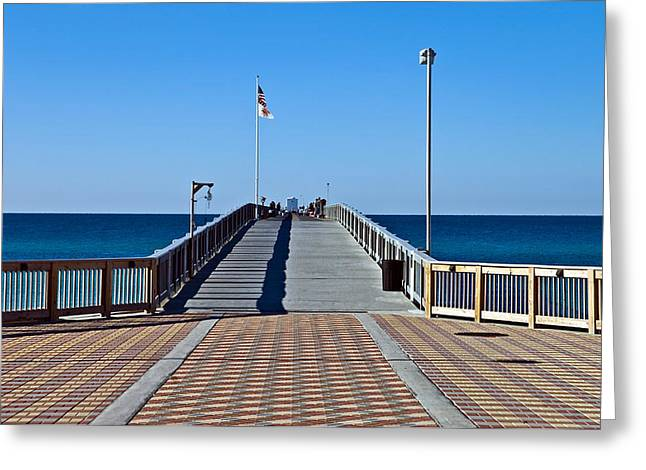 Susan Leggett Greeting Cards - Entrance to a Fishing Pier Greeting Card by Susan Leggett