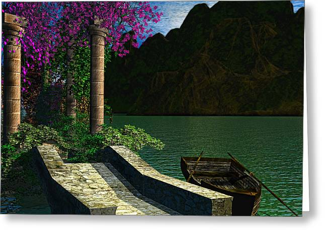Old Boat Greeting Cards - Entrance To Escape Greeting Card by Lourry Legarde