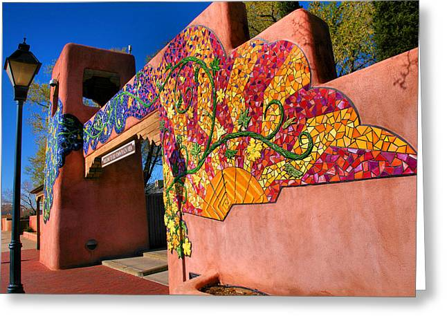 Adobe Greeting Cards - Entrance to Old Town Plaza I Greeting Card by Steven Ainsworth