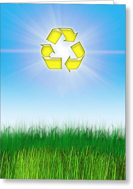 Responsible Greeting Cards - Environmental Recycling, Conceptual Image Greeting Card by Victor Habbick Visions