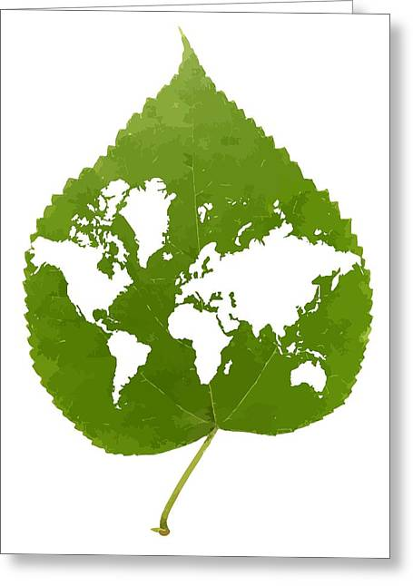 Responsible Greeting Cards - Environmentally Friendly Planet, Artwork Greeting Card by Victor Habbick Visions
