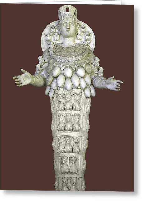 Symbol Of Power Greeting Cards - Ephesian Statue Of Artemis Greeting Card by Sheila Terry