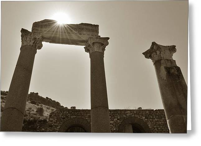 Ephesus 2011 Ad Greeting Card by Terence Davis