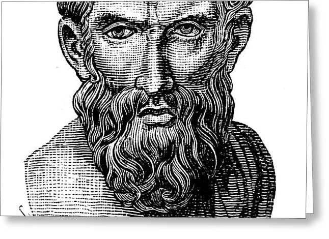 EPICURUS (343?-270 B.C.) Greeting Card by Granger