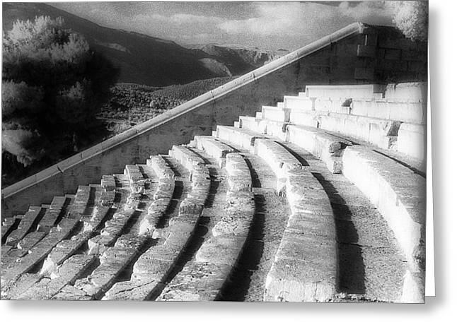 Kodak Theatre Greeting Cards - Epidavros theatre Greeting Card by Andonis Katanos