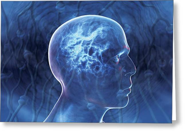 Epilepsy, Conceptual Artwork Greeting Card by David Mack