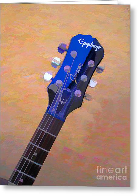 The Les Paul Guitar Greeting Cards - Epiphone Les Paul Guitar Greeting Card by RJ Aguilar
