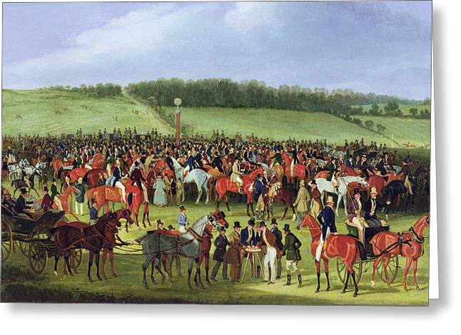 Race Horse Greeting Cards - Epsom Races - The Betting Post Greeting Card by James Pollard