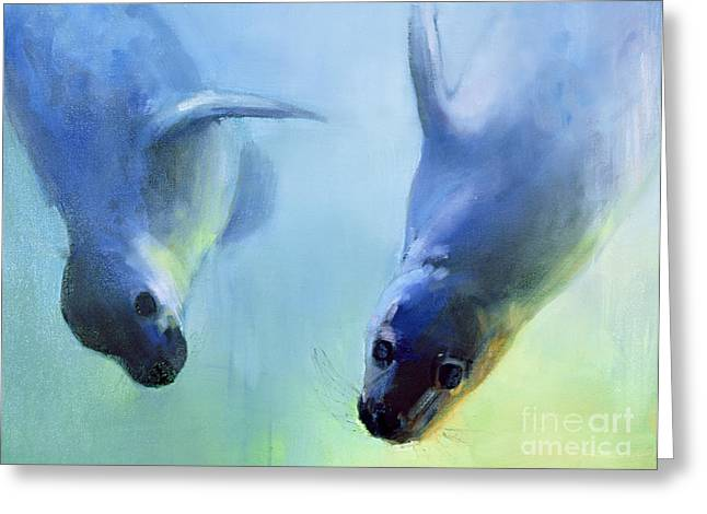 Diving Greeting Cards - Equally fascinating Greeting Card by Mark Adlington