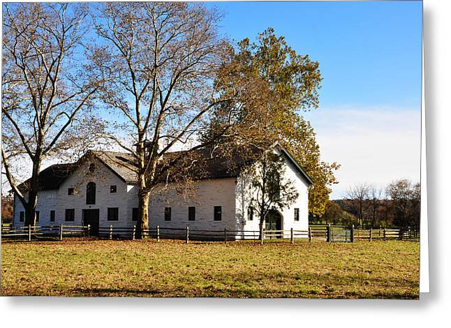 Erdenheim Farm Greeting Cards - Equestrian Stable Erdenheim Farm Greeting Card by Bill Cannon