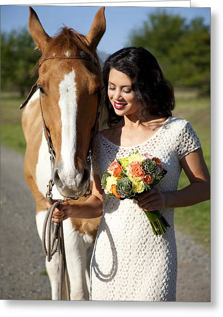 Horse Owner Greeting Cards - Equine Companion Greeting Card by Sri Maiava Rusden