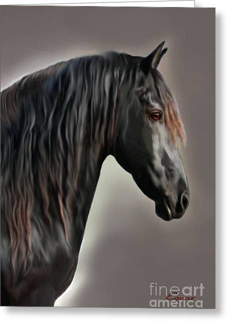 Workhorse Greeting Cards - Equus Greeting Card by Corey Ford